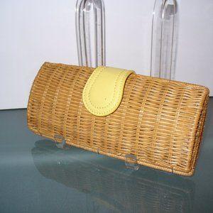 Talbots Wicker Rattan Clutch Bag